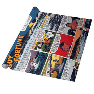 Vintage Black Heroes Wrapping Paper Sheets - Guy Fortune - CST3 - Package Of 5