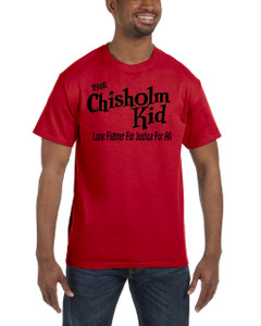 Vintage Black Heroes Men's T-Shirt - The Chisholm Kid - Logo 2- Red
