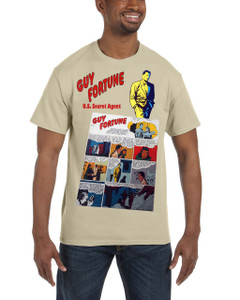 Vintage Black Heroes Men's T-Shirt - Guy Fortune - Comic 4 - Sand