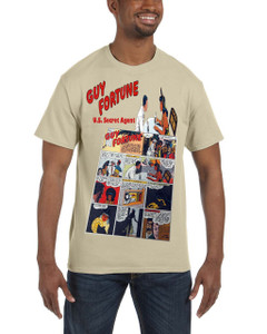 Vintage Black Heroes Men's T-Shirt - Guy Fortune - Comic 9 - Sand