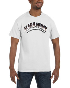 Vintage Black Heroes Men's T-Shirt - Mark Hunt - Logo - White