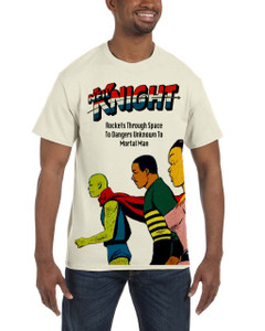Vintage Black Heroes Men's T-Shirt - Neil Knight 1 - Natural