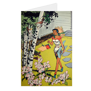Afrotopia Greeting Cards - Vintage Bird House