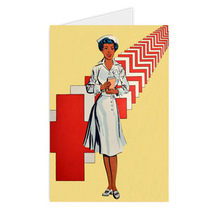 Afrotopia Greeting Cards - Vintage Nurse