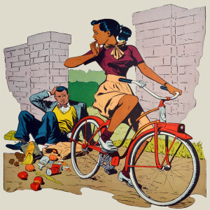 Afrotopia Magnet - Vintage Bicycle