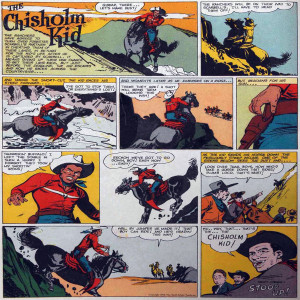 Vintage Black Heroes Magnet - The Chisholm Kid - CST7