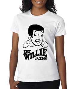 Fast Willie Jackson Women's T-Shirt - Cleo - 5 - White