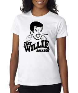 Fast Willie Jackson Women's T-Shirt - Cleo - 6 - White