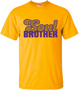 SuperBad Soulware Men's T-Shirt - Soul Brother - Gold - PRGD