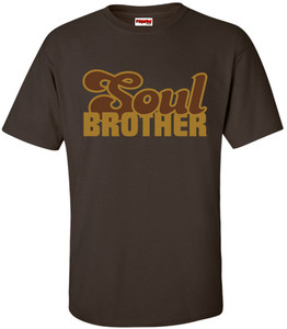 SuperBad Soulware Men's T-Shirt - Soul Brother - Brown - GDBR