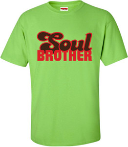 SuperBad Soulware Men's T-Shirt - Soul Brother - Lime Green