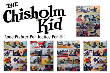 Vintage Black Heroes Sticker Sheet - Chisholm Kid - Comic 1