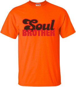 SuperBad Soulware Men's T-Shirt - Soul Brother - Orange