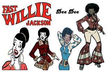 Fast Willie Jackson Sticker Sheet - Dee Dee - 1