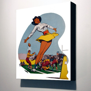 Afrotopia 32x24 Canvas - Vintage Cheerleader