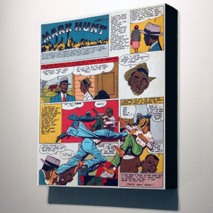 Vintage Black Heroes 32x24 Canvas - Mark Hunt - 4A