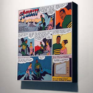 Vintage Black Heroes 32x24 Canvas - Neil Knight - 4