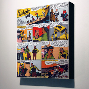 Vintage Black Heroes 24x20 Canvas - The Chisholm Kid - 14
