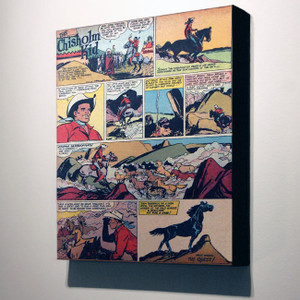 Vintage Black Heroes 32x24 Canvas - The Chisholm Kid - 17