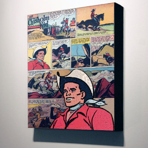 Vintage Black Heroes 32x24 Canvas - The Chisholm Kid - 17a