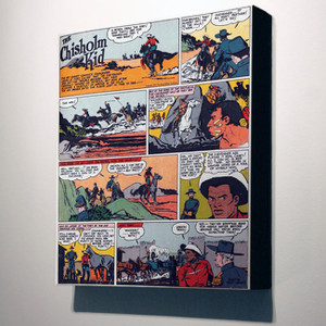 Vintage Black Heroes 32x24 Canvas - The Chisholm Kid - 3