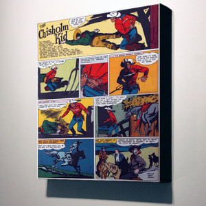 Vintage Black Heroes 32x24 Canvas - The Chisholm Kid - 4