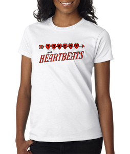 Vintage Black Heroines Women's T-Shirt - Torchy In Heartbeats - Logo 1 - White