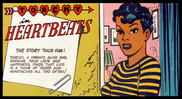 Vintage Black Heroines Magnet - Torchy In Heartbeats - 3A