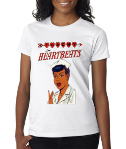Vintage Black Heroines Women's T-Shirt - Torchy In Heartbeats - 1 - White