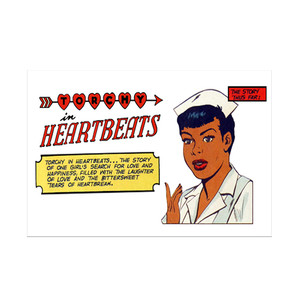 Vintage Black Heroines Invitations - Torchy In Heartbeats - 1A - Package Of 10