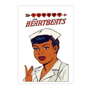 Vintage Black Heroines Invitations - Torchy In Heartbeats - 1 - Package Of 10