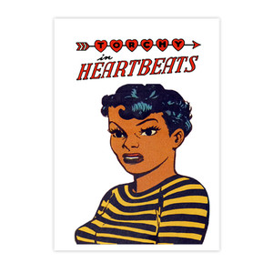 Vintage Black Heroines Invitations - Torchy In Heartbeats - 3 - Package Of 10