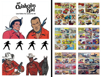Vintage Black Heroes Sticker Sheet Set - Chisholm Kid - 1