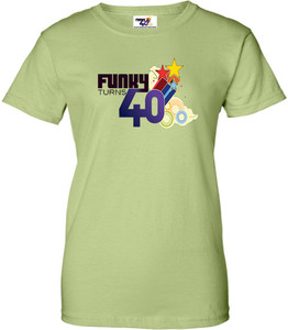Funky Turns 40 Women's T-Shirt - Pistachio