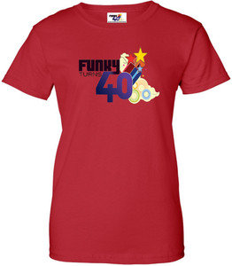 Funky Turns 40 Women's T-Shirt - Red