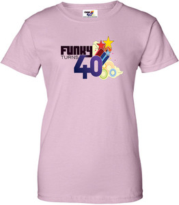 Funky Turns 40 Women's T-Shirt - Light Pink