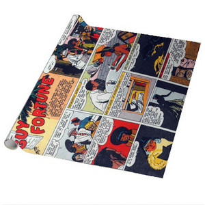 Vintage Black Heroes Wrapping Paper Sheets - Guy Fortune - CST9 - Package Of 5