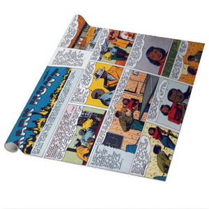 Vintage Black Heroes Wrapping Paper Sheets - Mark Hunt - CST1 - Package Of 5