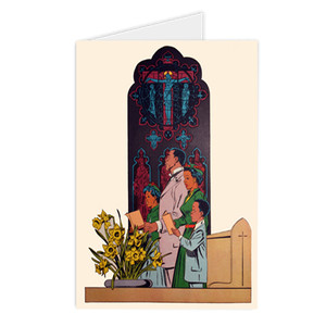 Afrotopia Greeting Cards - Vintage Church - Package Of 10