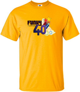 Funky Turns 40 Men's T-Shirt - Gold