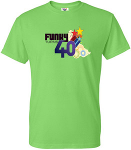 Funky Turns 40 Men's T-Shirt - Lime Green