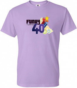 Funky Turns 40 Men's T-Shirt - Orchid