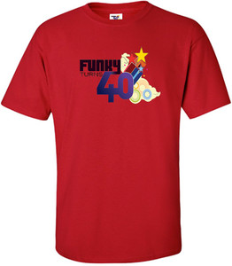 Funky Turns 40 Men's T-Shirt - Red