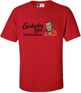 Vintage Black Heroes Men's T-Shirt - The Chisholm Kid - 3 - Red
