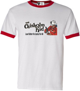 Vintage Black Heroes Men's T-Shirt - The Chisholm Kid - 5 - Red Ringer