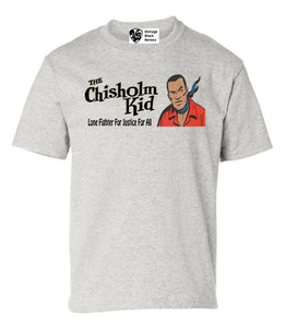 Vintage Black Heroes Boys T-Shirt - The Chisholm Kid - 3 - Ash
