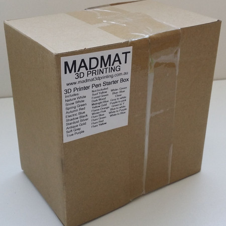 The standard MADMAT filament box is reused to make these kits to keep costs down for everyone including the environment