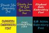 20 BX Fonts - Font Bundle 4 - 20 Embrilliance Machine Embroidery Fonts