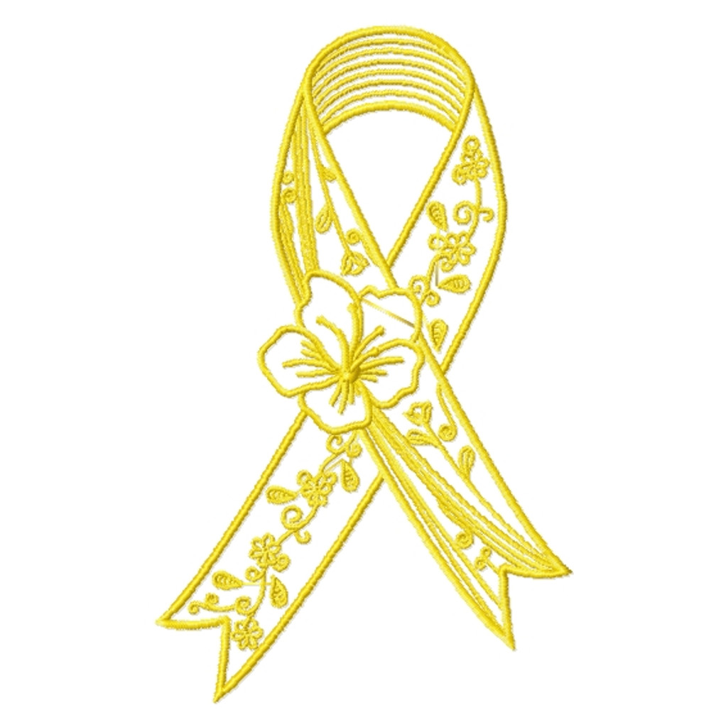 Awareness Ribbons - 8 Free Machine Embroidery Designs