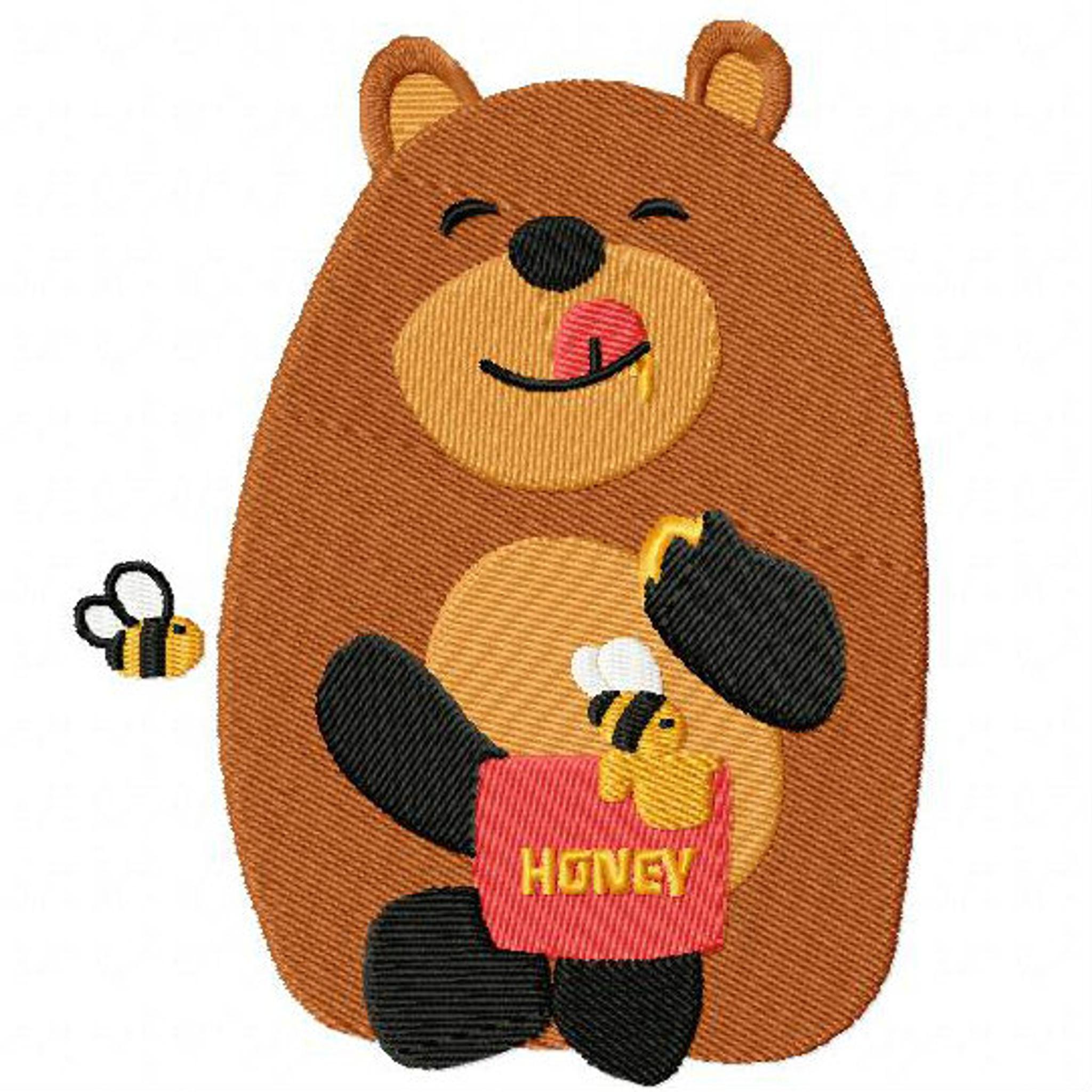 Sweet Bear  Woodland Animals 05 Machine Embroidery Design